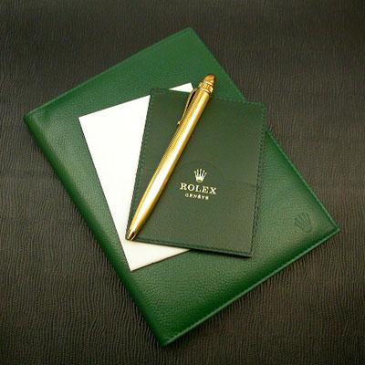 ロレックス ノベルティー 手帳 緑色