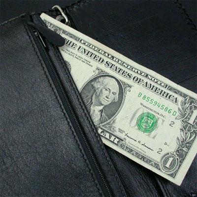 シルバーポイント 革財布 クロスモチーフ 黒 ロング二つ折 03