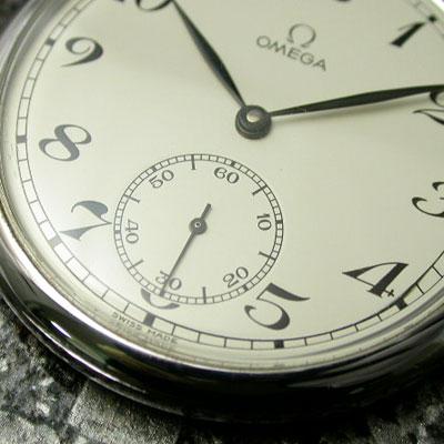 オメガ 懐中時計 白文字盤 Cal.960 美品 アンティークウオッチ 02