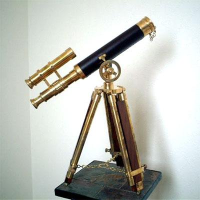 英国製 アンティーク望遠鏡 ブラック