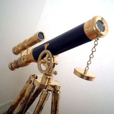 英国製 アンティーク望遠鏡 ブラック 02