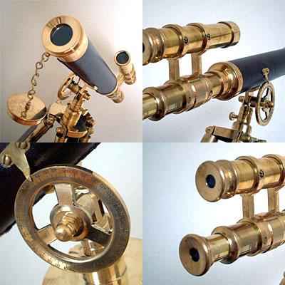英国製 アンティーク望遠鏡 ブラック 03