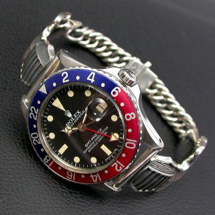 シルバー925ブレスレット ミリタリーウイングベルト 腕時計用(18mm) 02