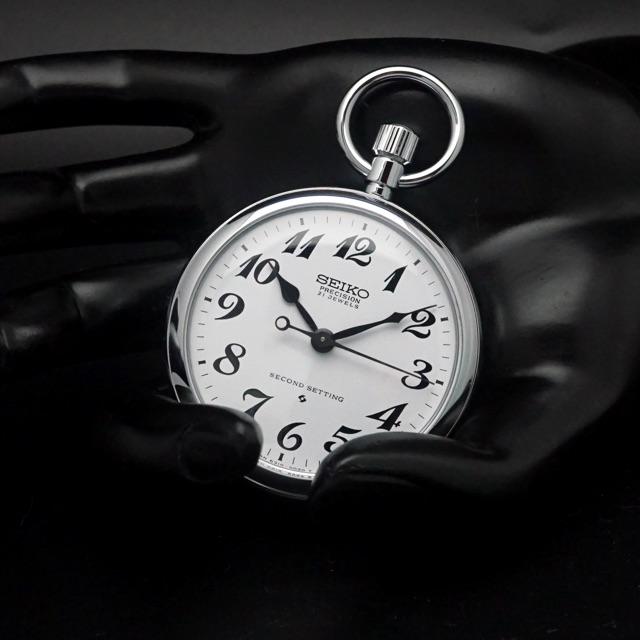 セイコー 鉄道時計 手巻き Cal.6310 懐中時計 デッドストック アンティークウオッチ 04