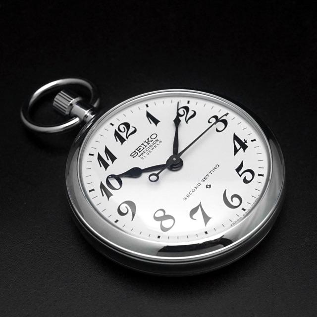 セイコー 鉄道時計 手巻き Cal.6310 懐中時計 デッドストック アンティークウオッチ 05