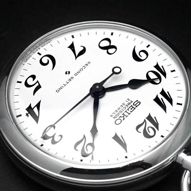 セイコー 鉄道時計 手巻き Cal.6310 懐中時計 デッドストック アンティークウオッチ 06