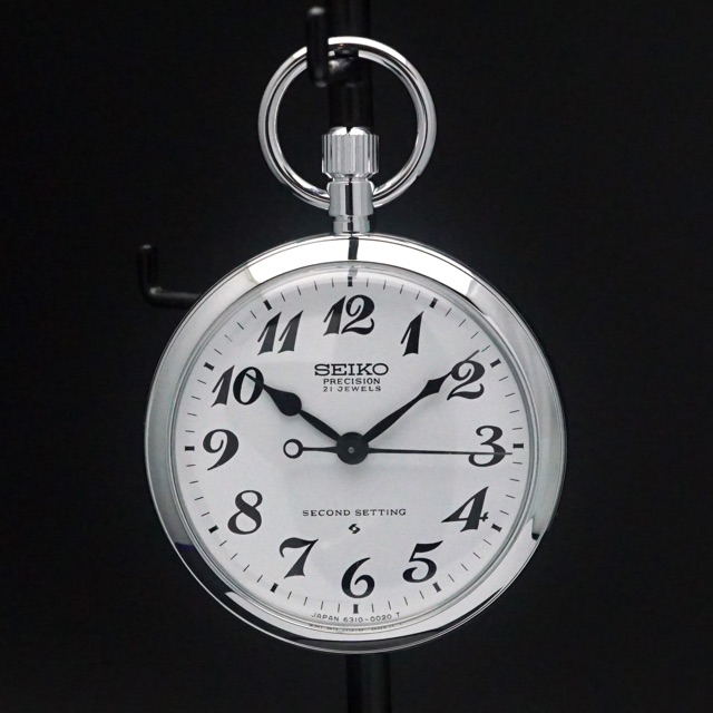 セイコー 鉄道時計 手巻き Cal.6310 懐中時計 デッドストック アンティークウオッチ 07