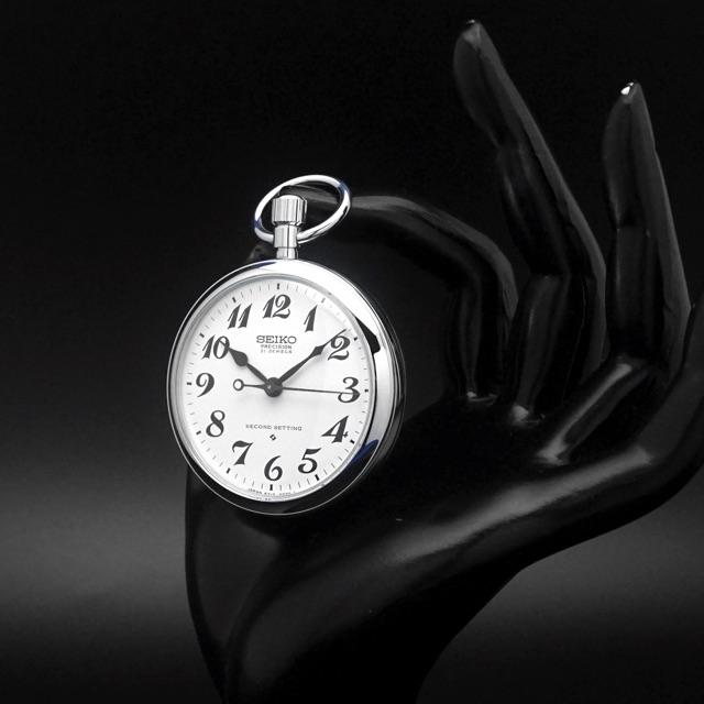 セイコー 鉄道時計 手巻き Cal.6310 懐中時計 デッドストック アンティークウオッチ 08