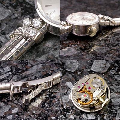 IWC ダイヤ装飾 18KWG レディース アンティークウオッチ 03