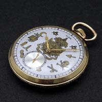 エルジン 懐中時計 フリーメイソン 10K FILLED アンティークウオッチ