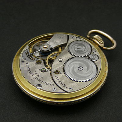 エルジン 懐中時計 フリーメイソン 10K FILLED アンティークウオッチ 02