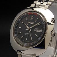 セイコー ベルマチック ビッグケース グレーダイアル アラーム腕時計 アンティークウオッチ