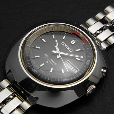 セイコー ベルマチック ビッグケース グレーダイアル アラーム腕時計 アンティークウオッチ 02