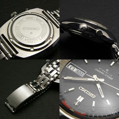 セイコー ベルマチック ビッグケース グレーダイアル アラーム腕時計 アンティークウオッチ 03