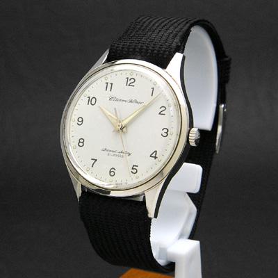シチズン ホーマー 鉄道時計 セカンドセッティング 白文字盤 アンティークウオッチ