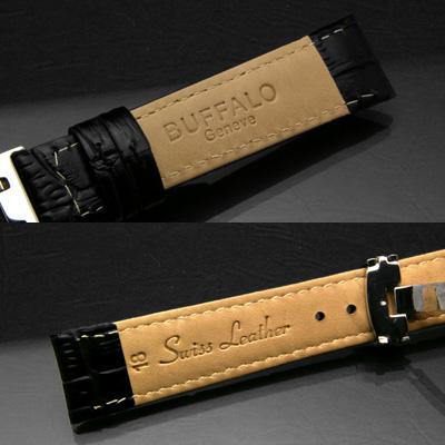 腕時計用 革ベルト 18mm Dバックル仕様 ブラウン 02