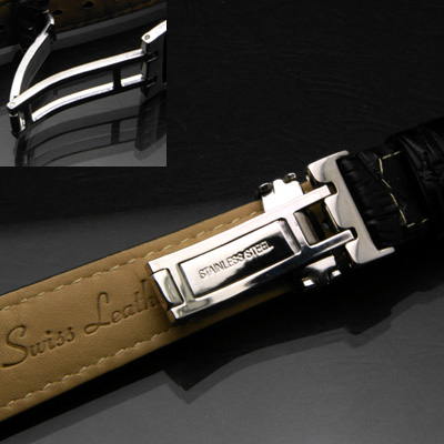 腕時計用 革ベルト 18mm Dバックル仕様 ブラウン 03