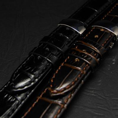 腕時計用 革ベルト 20mm Dバックル仕様 ダークブラウン