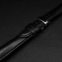 腕時計用 革ベルト 18mm Dバックル仕様 ブラック