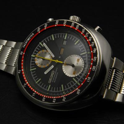 セイコー ビッグダブルクロノ スピードタイマー クロノグラフ 赤黒 アンティークウオッチ 02