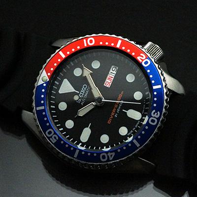 セイコー 200mダイバー 赤青ベゼル Cal.7S26 アンティークウオッチ 02