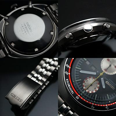 セイコー ビッグダブルクロノ スピードタイマー クロノグラフ 赤黒 アンティークウオッチ 03