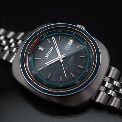 セイコー ベルマチック ブラックダイアル アラーム腕時計 アンティークウオッチ 02