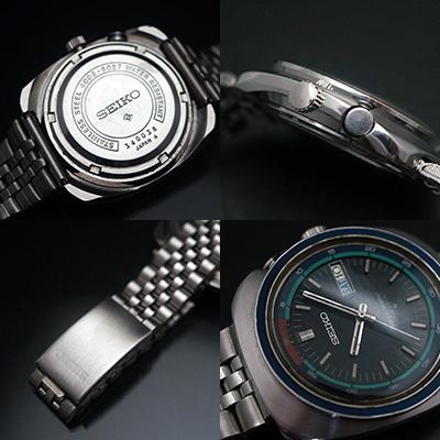 セイコー ベルマチック ブラックダイアル アラーム腕時計 アンティークウオッチ 03