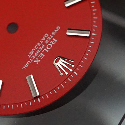 ロレックス オイスターパーペチュアル デイトジャスト 赤文字盤 03