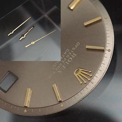 ロレックス オイスターパーペチュアル デイトジャスト アッシュゴールド文字盤 針セット 03