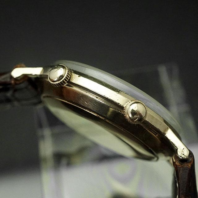 ルクルト メモボックス アラーム時計 手巻き 10KGF アンティークウオッチ 03