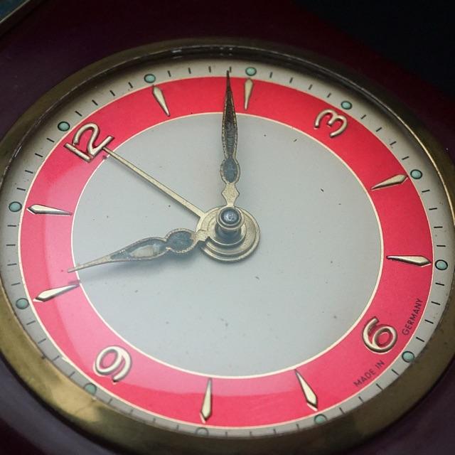 リュージュ社オルゴール アラーム置き時計 ドイツ製 05