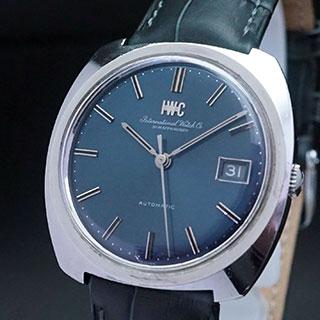 IWC 3針 オートマチック カレンダー ブルーダイアル Cal.8541b アンティークウオッチ